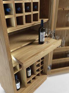 Mobile bar in legno CAMBUSA SMALL by Riva 1920 | design Giuliano Cappelletti