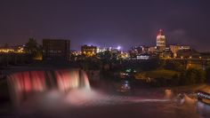 High Falls Light Show by Mark Papke. Prints available on my website. http://mark-papke.artistwebsites.com/