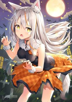 Anime pictures and wallpapers search Manga Anime, Anime Neko, Lolis Neko, Anime Furry, Manga Girl, Cute Anime Pics, I Love Anime, Awesome Anime, Anime Halloween