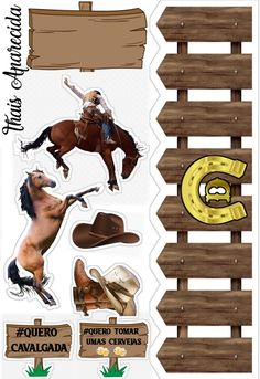 Page Borders Design, Border Design, Bolo Minion, Cowboy Cakes, Stitch Drawing, Happy Birthday Cake Topper, Horse Party, Vinyl Cutting, Aesthetic Stickers