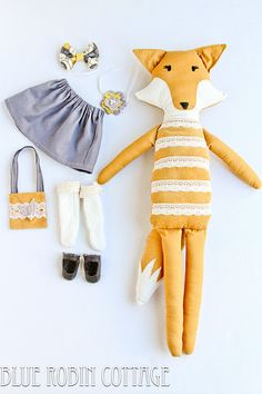 fox doll - I want to make one of these for Clementine when she gets old enough
