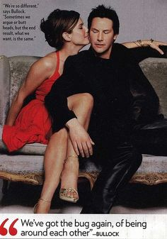 Image via We Heart It https://weheartit.com/entry/118248112 #keanureeves #kiss #reddress #sandrabullock #speed #lakehouse