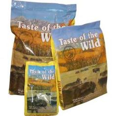 Taste of the Wild High Prairie Formula: This great dry dog food contains roasted bison and roasted venison that will have your dog howling at the moon out of joy. This hearty diet also is jam packed with antioxidants, omega fatty acids, and amino acids. This great diet supports a healthy immune system and overall good health. High Prairie Formula dry kibble is also grain free! $12.99 - $49.99 #twobostons #tasteofthewild