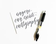 Cheating Calligraphy Tutorial (How to create faux calligraphy) | The Postman's Knock