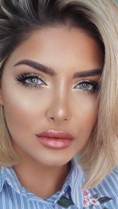 Beautiful dewy makeup look