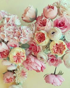 Paper flowers, diy, paper juliete garden roses by Christine paper design.