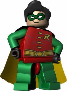 Lego Batman Robin Coloring Page Na