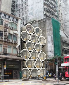Micro homes in pipes designed to ease Hong Kong's housing crisis
