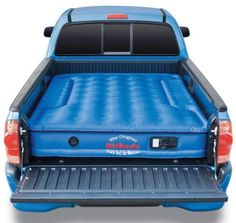Truck bed air mattress!! great idea for camping this summer :)