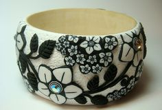 Polymer clay bangle by Silastone