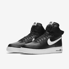 f2492aabcd41 Nike Air Force 1 High 07 Black White Men SoleHeaven Shoes