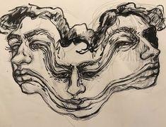 @brookepaigem Kunst Inspo, Art Inspo, Art Sketches, Art Drawings, Pencil Drawings, Kunst Tattoos, Posca Art, Arte Sketchbook, Sketchbook Ideas
