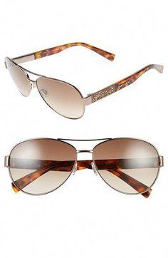 ec8ebb873d898 Jimmy Choo Lexi Aviator Sunglasses with Crystal Temples  JimmyChoo ...