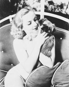 Carole Lombard. That's a freaking pekingnese❤