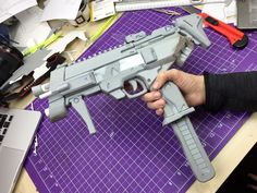 (10) Kamui Cosplay - Oh, and here is my finished Sombra EVA foam gun...