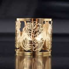 abstract gold cuff