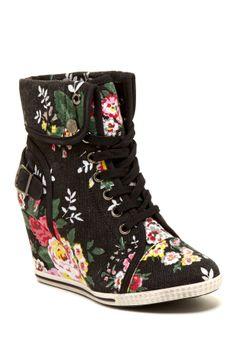 Bucco Bluebell Sneaker Wedge