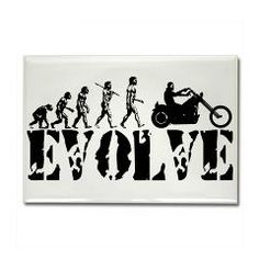 Motorcycle Rider Rectangle Magnet #Magnets #Gifts