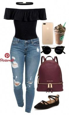 casual womens fashion which looks stunning. image 87945 Casual fashion for School outfits for teens 2019 Teenage Outfits, Teen Fashion Outfits, Basic Outfits, Cute Casual Outfits, Swag Outfits, Outfits For Teens, Fall Outfits, Summer Outfits, Ladies Fashion