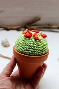 Beautiful Cactus to dekorate your home or office. Knitted Hats, Cactus, Knitting, Etsy, Grey Colors, Amigurumi Doll, Orange, House Decorations, Hand Made