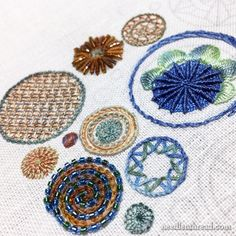 Circle Sampler for embroidery stitches