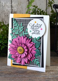 GDP248-003 copy Cards For Friends, Friend Cards, Sunflower Cards, Make Smile, Global Design, Project Yourself, Stampin Up Cards, Congratulations, Paper Crafts