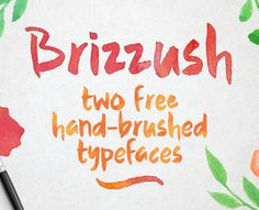 Check out Brizzush – a natural Free Brush Script Font which is available in rough and smooth version. You can use this script font for T-shirt design, logo, headlines, invitation, posters, greeting cards and more.  Both versions have lowercase double-letter ligatures, special characters, and the usual brace of accented characters. Grab it for FREE and use for personal and commercial purposes.
