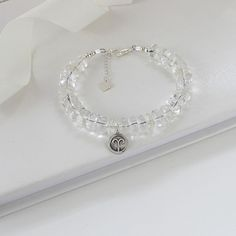 Not diamonds I am afraid but rock crystal. the more affordable April birthstone!So while you are hanging out for diamonds this may be an affordable little treat x Girl Birthday, Birthday Gifts, Jewelry Gifts, Jewellery, Zodiac Jewelry, Personalized Jewelry, Birthstones, Wedding Jewelry, Birthdays