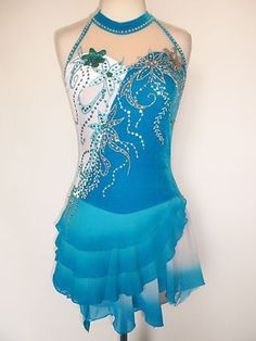 Custom Made to Fit Ice Skating Baton Twirling Costume | eBay