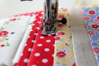 start to finish quilting tutorial - machine quilting section.