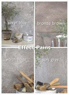 Handgeverfd Proefstukje Betonlook verf / Effect Paint Bronze Brown Primer Wit - My Industrial Interior Faux Walls, Painted Floors, Paint Colors For Home, Concrete Wall, Hanging Wall Art, Cheap Home Decor, Painting, Cafe Interior, Interior Paint
