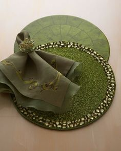 Kim Seybert Designs | Kim Seybert Four Curled Leaf Napkins - traditional - table linens - by ...