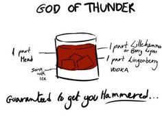 The Avengers Drinks - God of Thunder