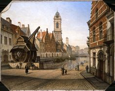 Place Sainte-Catherine - Sint-Katelijneplein  (F. Stroobant, 1819-1916) © Museum Stad Brussel