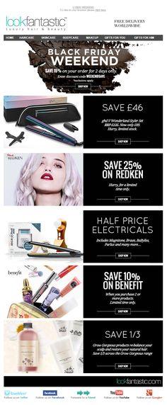 Black Friday Email Marketing Inspiration 2014 / Look Fantastic