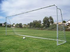 Official MLS/FIFA Size 24 X 8 X 5 Ft. Steel Soccer Goal. Heavy Duty Frame w/Net. Tournament, Regulation FIFA/MLS Size Goals. Professional Portable Practice Training Aid. 24 X 8, 24x8 Soccer Goal
