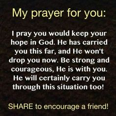 My prayer for you.