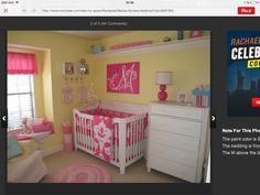pin von kelly herndon auf baby nursery | pinterest | girls ... - Kinderzimmer Gelb Pink