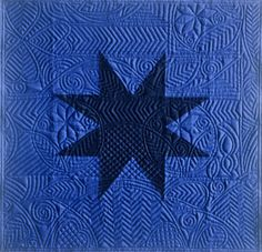 a quilt by one of my professors from university  Barbara Todd, Dark Star (1995), Photo: TMC