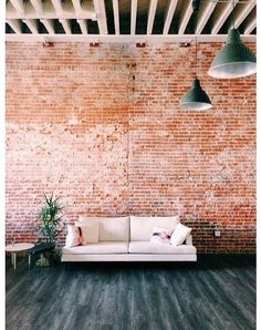 Brick Feature Wall In The Living Room