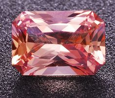 Untreated, eye clean, Padparadscha Sapphire octagon weighing 0.88 cts, from Tunduru, Tanzania  In different times and different countries padparadscha color was not always the same and it's still a matter of hot debate, even among experts. Padparadscha is a variety of corundum.