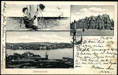 KRISTIANSUND i Møre og Romsdal fylke. Fint tre-bilders inkl. to byfoto Brukt 2.II.1904