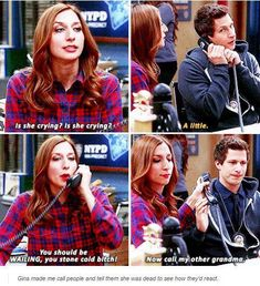 Brooklyn Nine-Nine--Classic Gina Brooklyn Nine Nine Funny, Brooklyn 9 9, Best Tv Shows, Favorite Tv Shows, Movies And Tv Shows, Hunger Games, Funny Memes, Hilarious, Funny Quotes