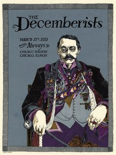 The Decemberists (Chicago) - Landland Illustration/Design: Jessica Seamans