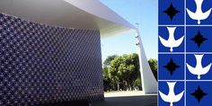 Ah! Love it! Reminds me of an old Olympics (Mexico) postcard we had at home! in honor of 2016 olympics - clé spotlights brazilian tile revolutionist athos bulcao & oscar niemeyer who changed the landscape of brazil's capitol brasilia.