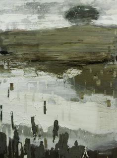 Paisaje con árbol. Mix media on canvas. 195 x 146. 2011-2012