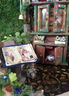 Fairy Cabinet and House Display by SpiritedWoodland on Etsy