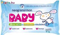 A Neogranormon Baby törlőkendő rendkívül puha, vastag, textilhatású, amely gyengéden ápolja apróságod bőrét és megtisztítja. Tökéletes választás érzékeny bőrűek számára is, ugyanis aloe vera és kamilla kivonatot tartalmaz, mely nyugtatja, hidratálja és ápolja a bőrt. Egész test áttörlésére is maximálisan alkalmas.    Jellemzői:  - Textilhatású  - Puha, nedves  - Gyengéden tisztít  - Alkoholmentes  - Parabénmentes  - pH-semleges  - Nem ragad  - Klór-és formaldehidmentes  - Újszülött kortól… Aloe Vera, Baby Pop, Products, Gadget