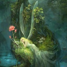 Fantasy Arts Wallpapers and Backgrounds - Fantasy Arts Images and Pictures Fairy Paintings, Fantasy Paintings, Fantasy Artwork, Magical Creatures, Fantasy Creatures, Elfen Fantasy, Fairy Pictures, Love Fairy, Beautiful Fairies