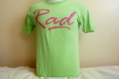 80's RAD cotton neon Tshirt and hot pink by sunkissedhighways, $19.00